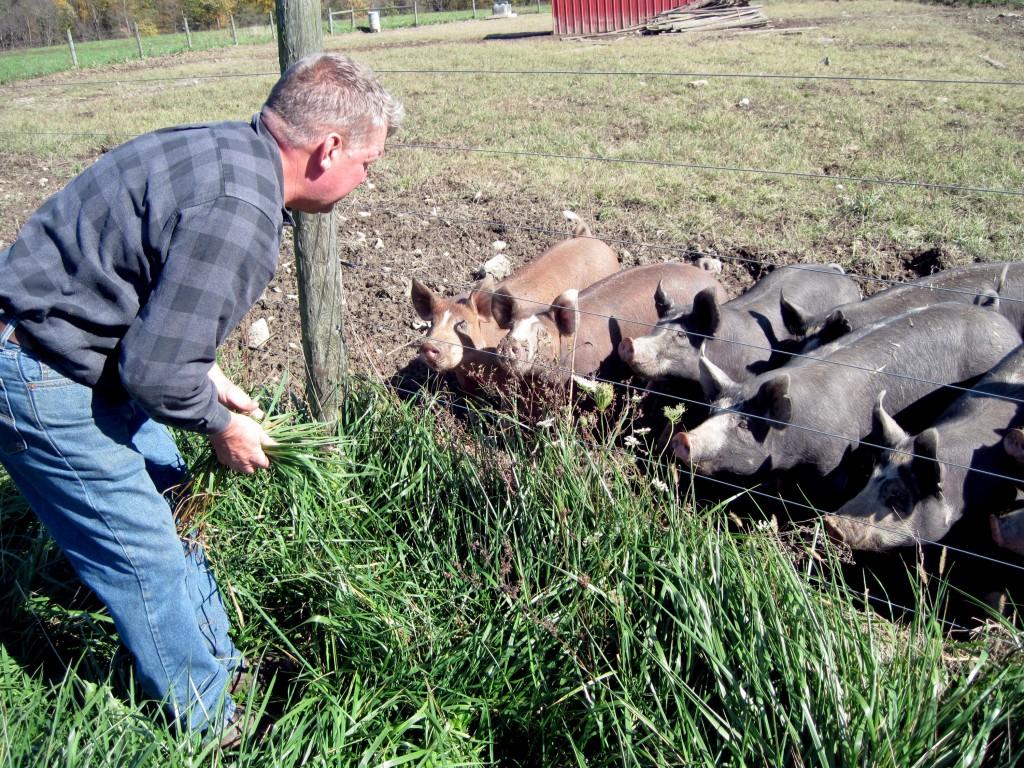 Aaron Miller of Miller Livestock, a Bon Appétit Management Company Farm to Fork vendor in Ohio