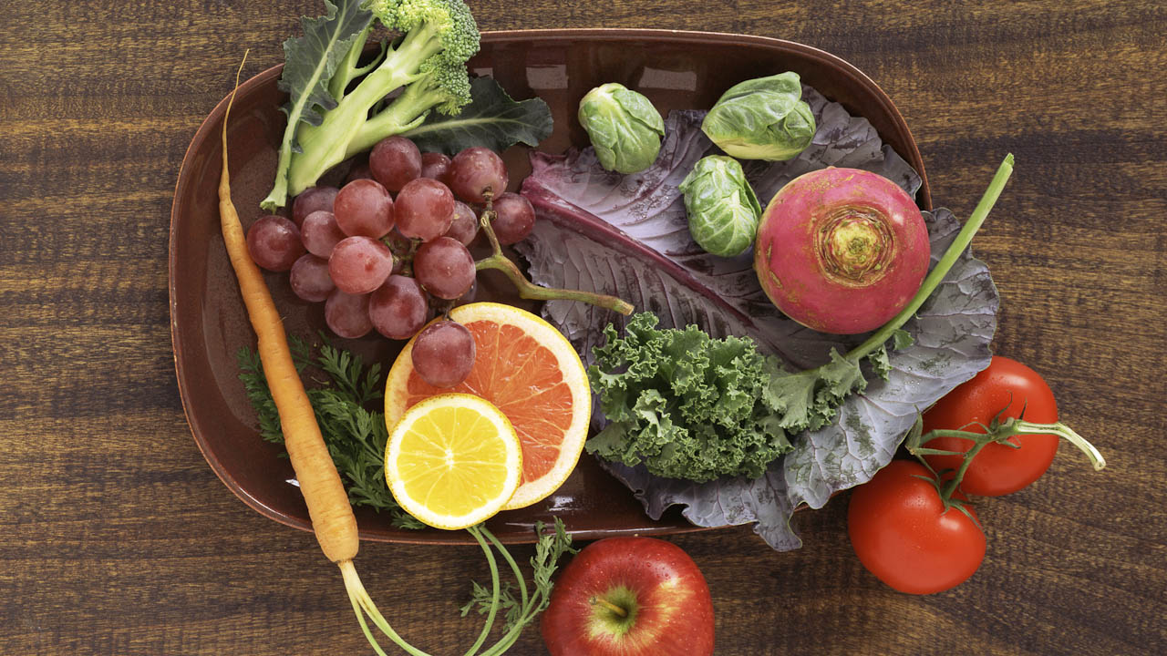 produce on table