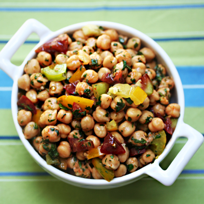 Garbanzo Bean Salad with Red Curry and Tomatoes