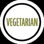 Round vegetarian icon