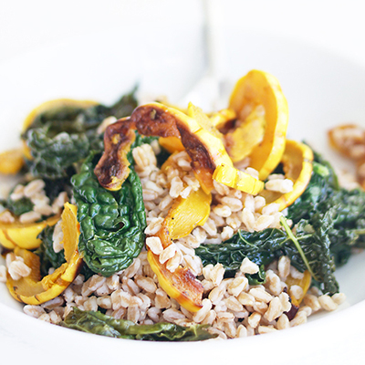 Cheryl Rule – Farro with roasted delicata squash, kale, and sherry vinegar (orig)_400x400