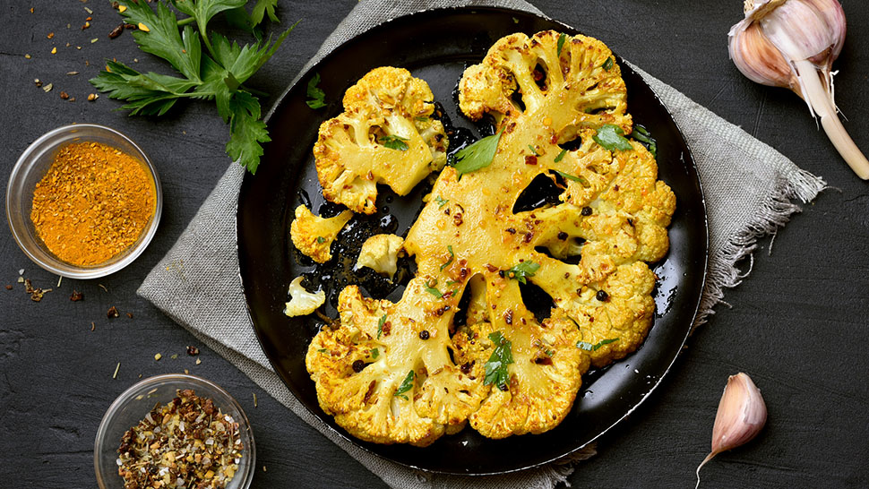 Roasted cauliflower steak