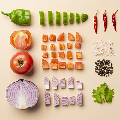 Mexican food -knolling-