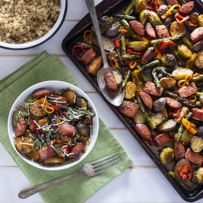 Sheet Pan Sausage